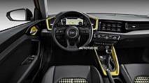 Nuova Audi A1 prime foto dal web