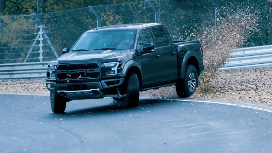 Watch Vaughn Gittin Drift A Ford Raptor Around The Nürburgring