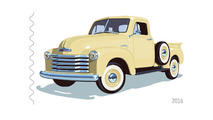 Four classic American trucks on new stamps because America