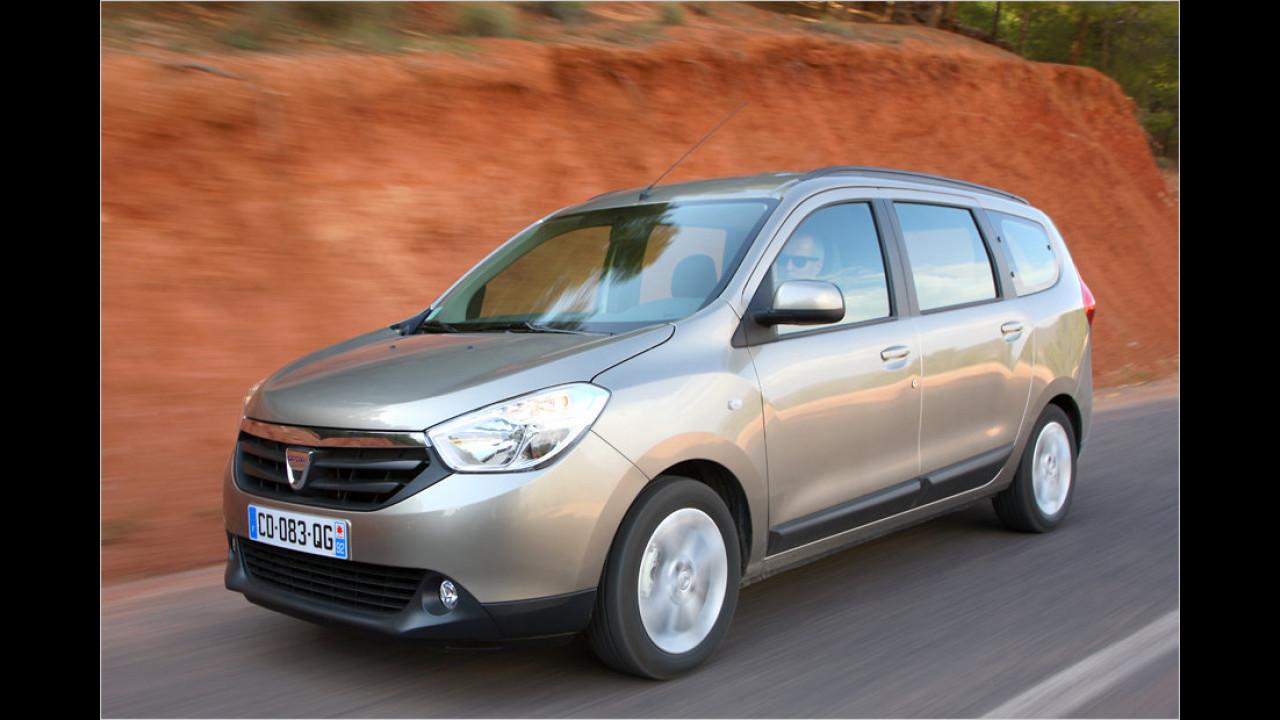 Dacia Lodgy dCi 90: - 2,4 Prozent
