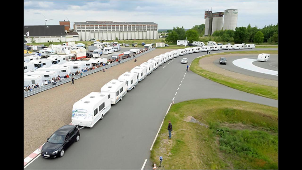 Größte Zahl gezogener Wohnwagen