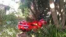 Ferrari 458 Spider crashed in Australia