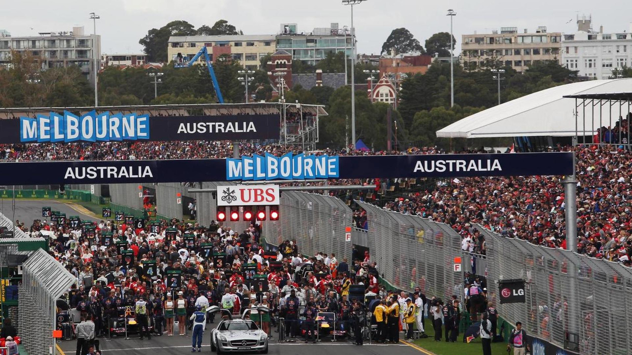 Grid before start of race 17.03.2013 Australian Grand Prix