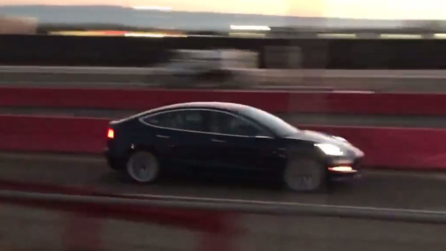 Tesla Model 3 Spotted During High-Speed Test Run