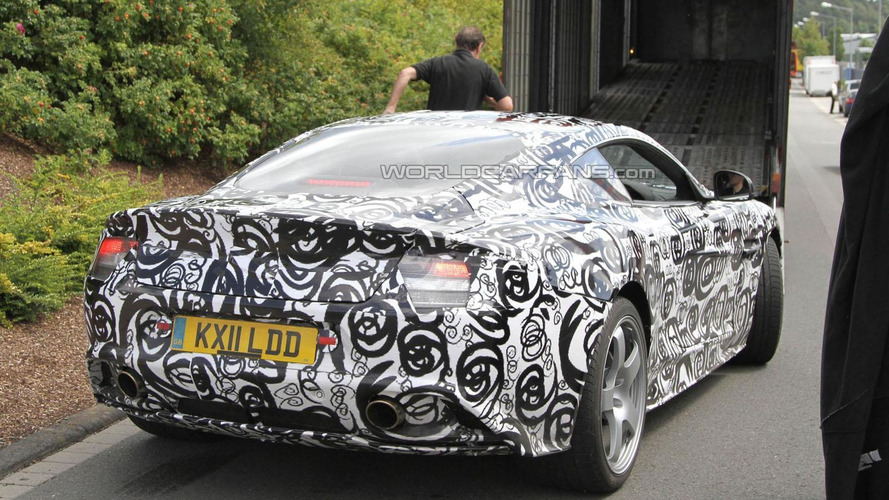 2013 Aston Martin DB9 spied for the first time