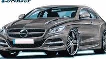 2012 Mercedes CLS styling program design sketch by Lorinser 07.06.2010