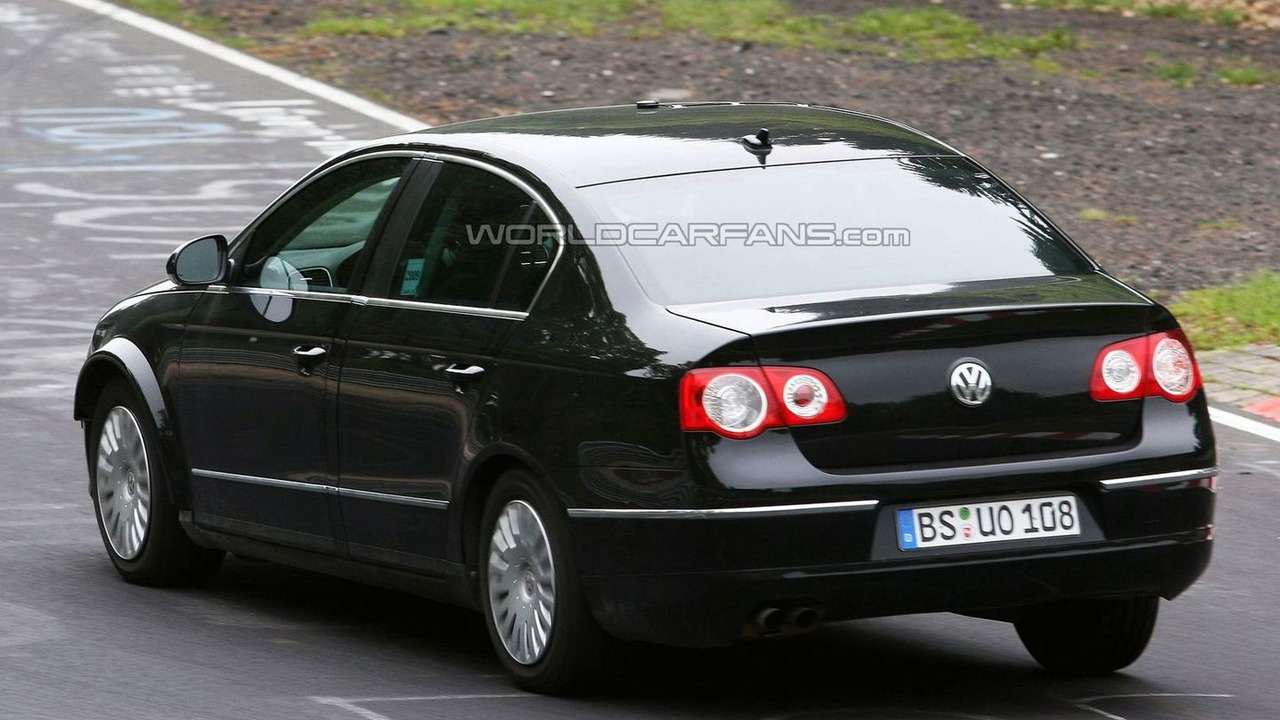 VW Passat test mule prototype spy photo at Nurburgring