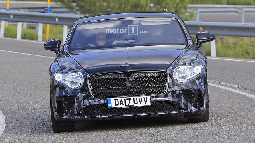 2018 Bentley Continental GT spied with less camo