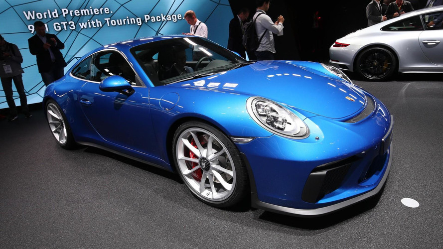 Blue Porsche 911 GT3 Touring Package Looks Stunning In Frankfurt