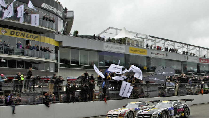 Mercedes SLS AMG GT3 victorious at the 24 Hours of Nürburgring