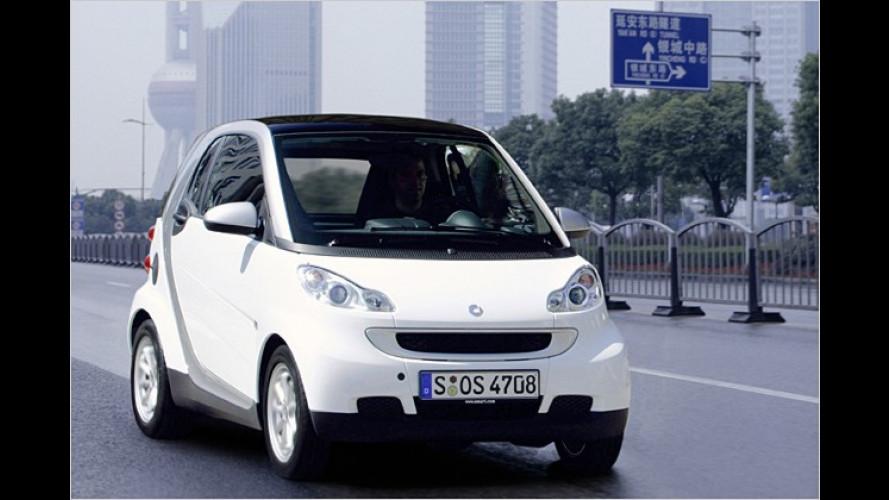 Smart schickt den Fortwo Mitte 2009 in China ins Rennen