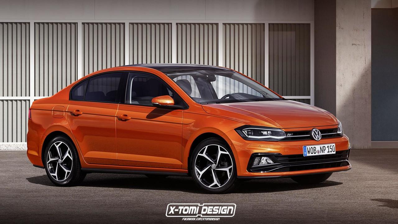 VW Polo Sedan render