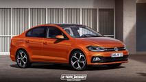VW Polo Sedan render