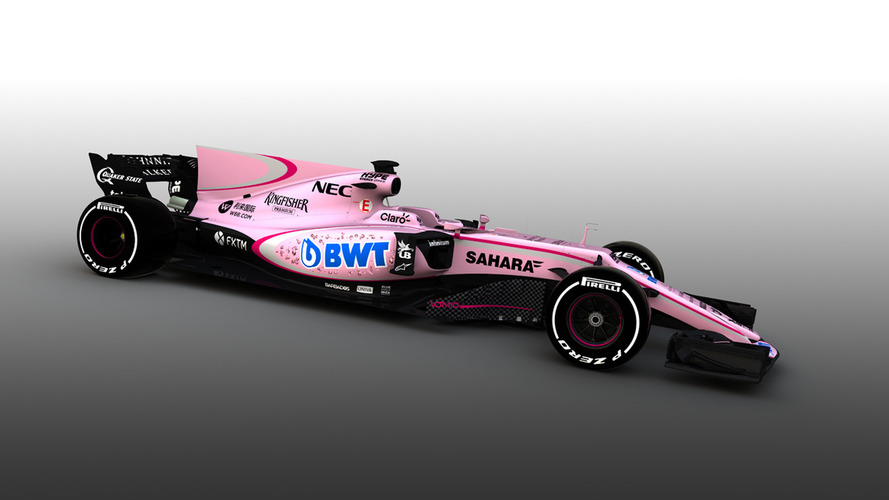 F1 2017: Force India reveals new pink livery