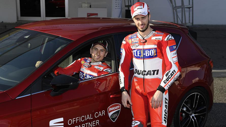Lorenzo y Dovizioso, embajadores de SEAT