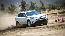 Getting dirty and sideways in a pair of rally-ready Toyota RAV4s