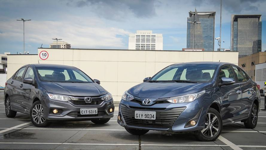 Comparativo Toyota Yaris Sedan XLS x Honda City EXL: Imagem e semelhança