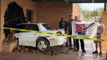 High School Seniors Successfully Fake Hilarious Crash Prank