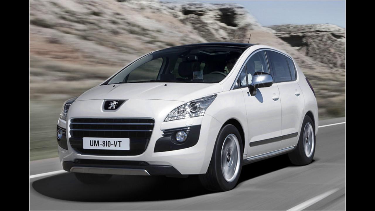 Kompaktvans: Peugeot 3008 HYbrid4 99g Automatik