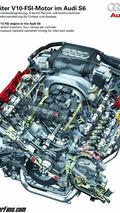 Audi S6 5.2 liter FSI V10 engine diagram