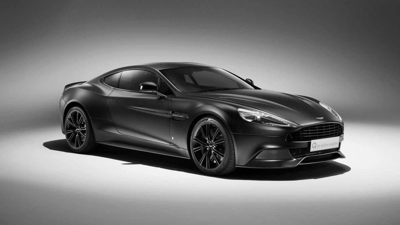 Aston Martin Satin Jet Black Vanquish Coupe