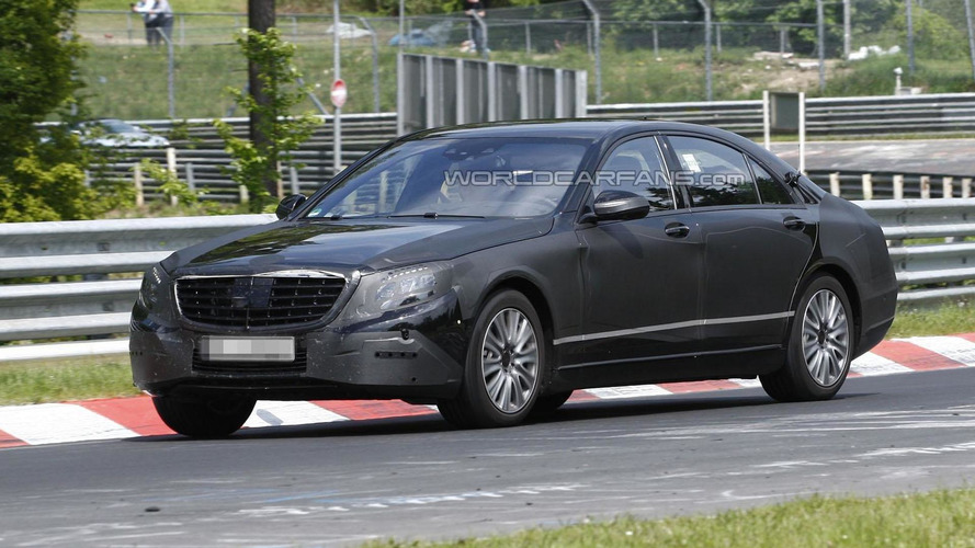 2013 Mercedes S-Class spied with less camouflage