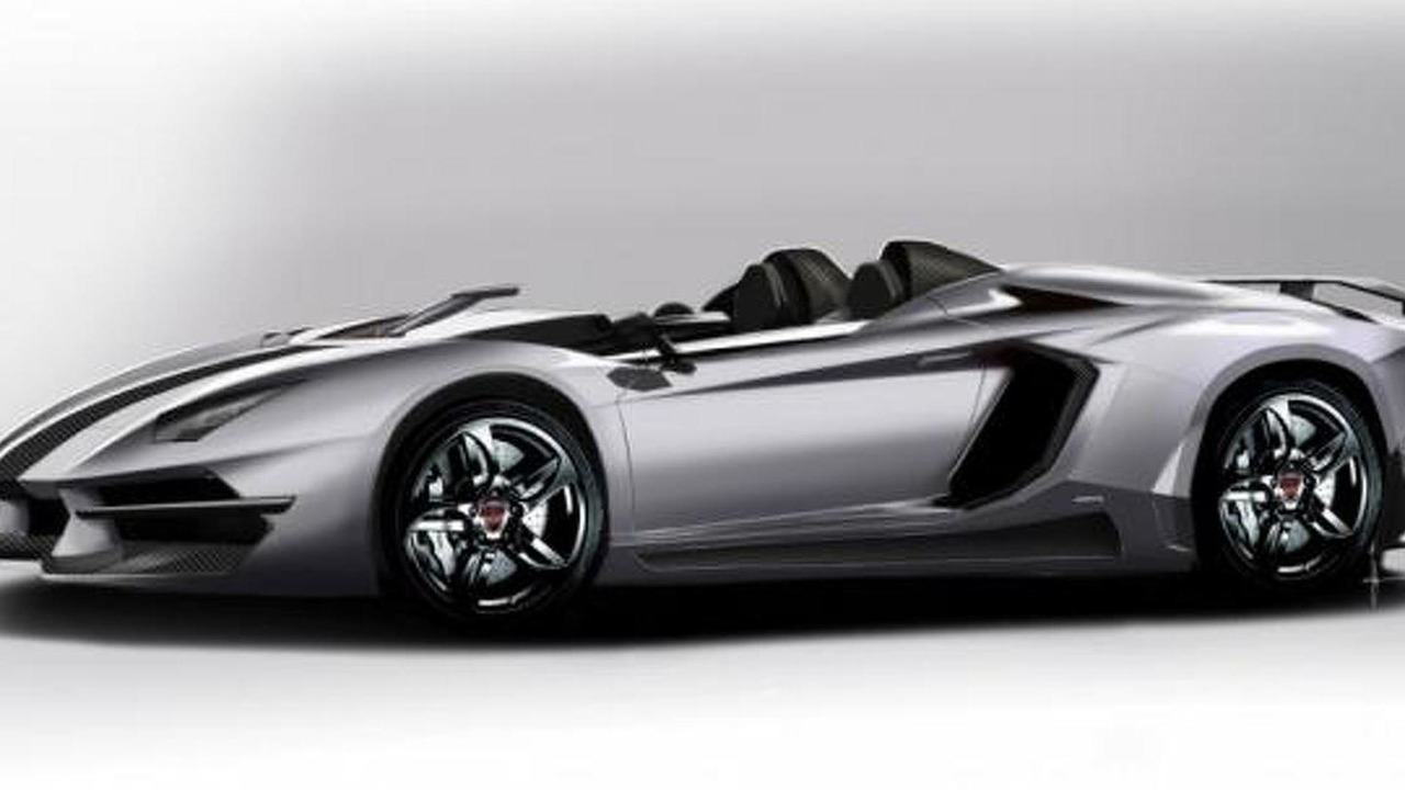 Prindiville Lamborghini Aventador J tuning kit rendering 5.1.2012