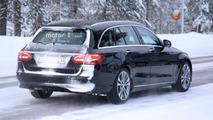 2018 Mercedes C-Class Estate facelift spy photo