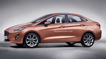 New Fiesta Sedan 2018 - projecao