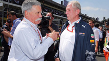 (L to R): Chase Carey, Formula One Group Chairman with Dr Helmut Marko, Red Bull Motorsport Consultant on the grid