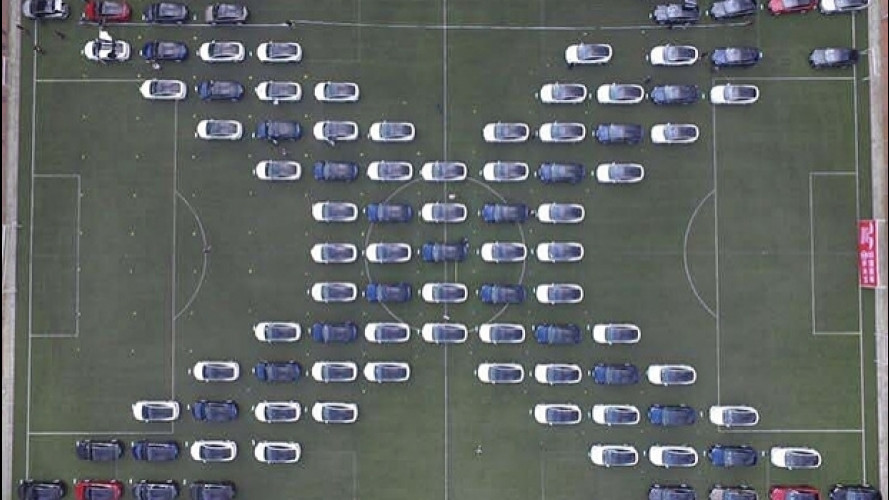 Tesla, un raduno record in Cina [VIDEO]
