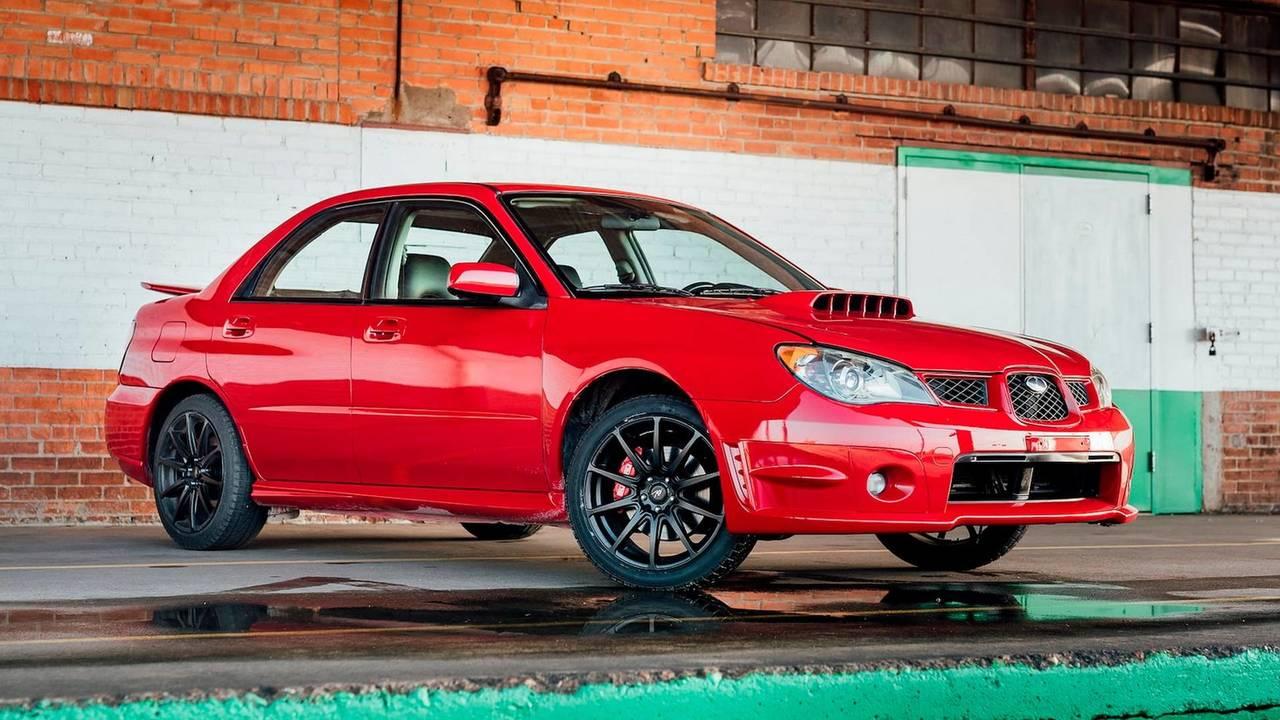 Baby Driver Filmindeki Subaru Impreza WRX'lerden Birisi