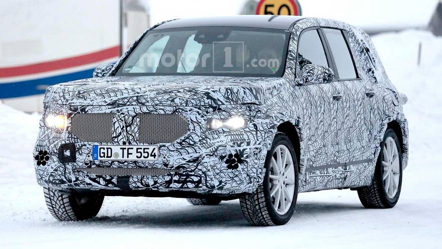 Mercedes GLB-Class SUV Spied Again Looking As Boxy As Ever