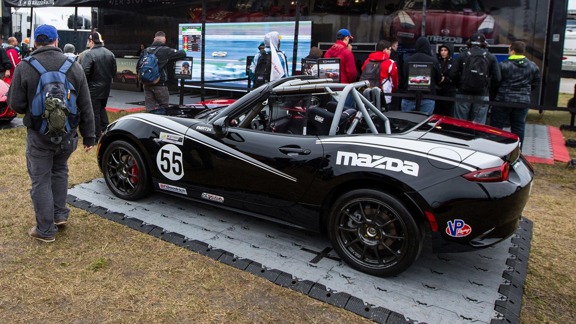 meet halfie the split personality mazda miata race car