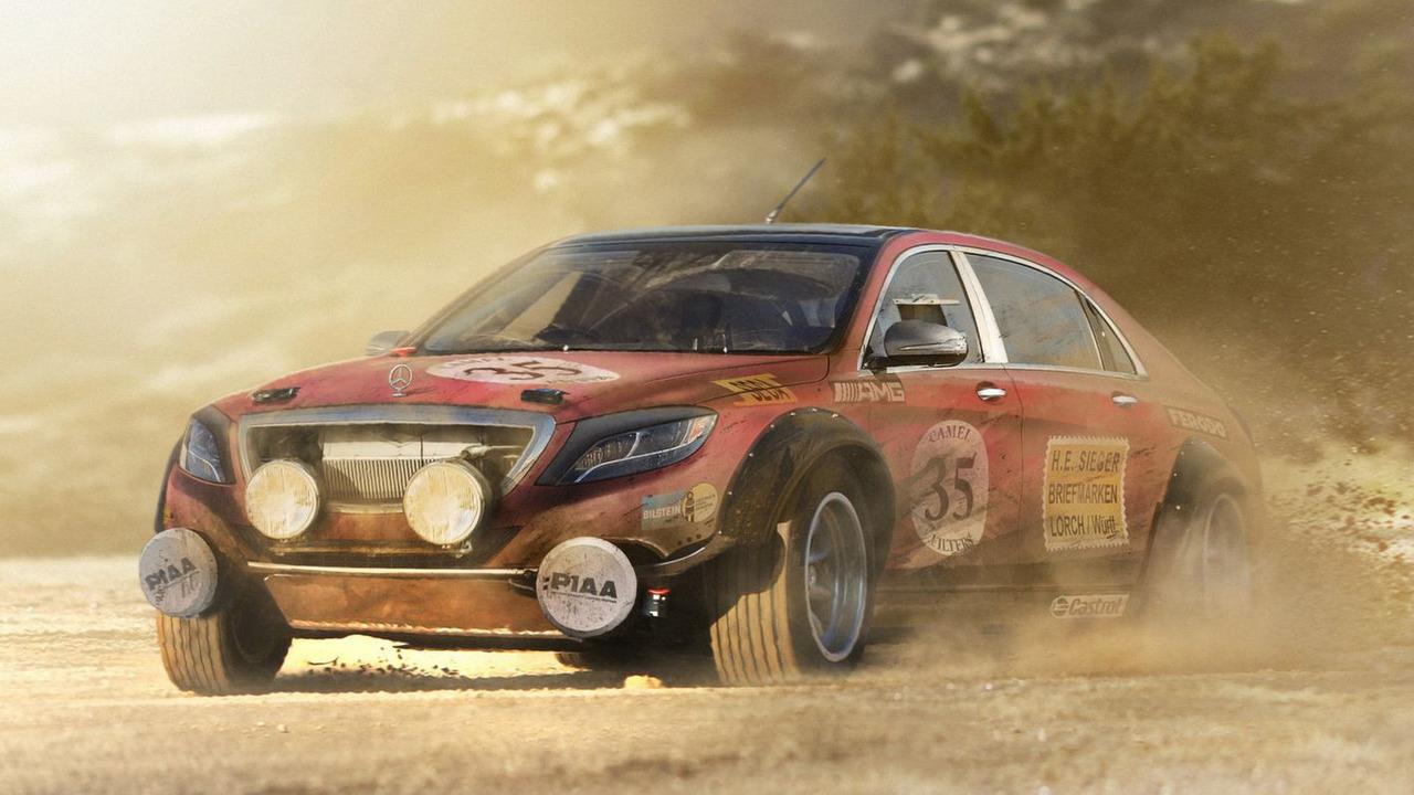 Mercedes-Benz S Class rally car photo