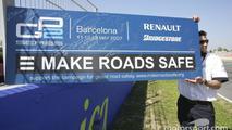Road safety board Catalunya GP2