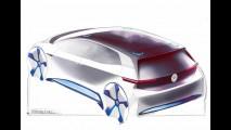 Volkswagen divulga mais ilustrações do hatch elétrico
