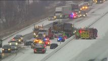 Highway 401 pileup on January 7, 2017
