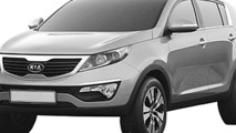 2011 Kia Sportage leaked patent office designs