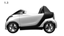 Smart ForTwo roadster patent rendering - 1.3.2011