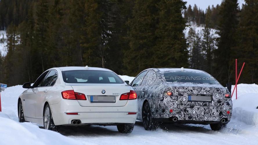 2017 BMW 5-Series spied testing alongside current model