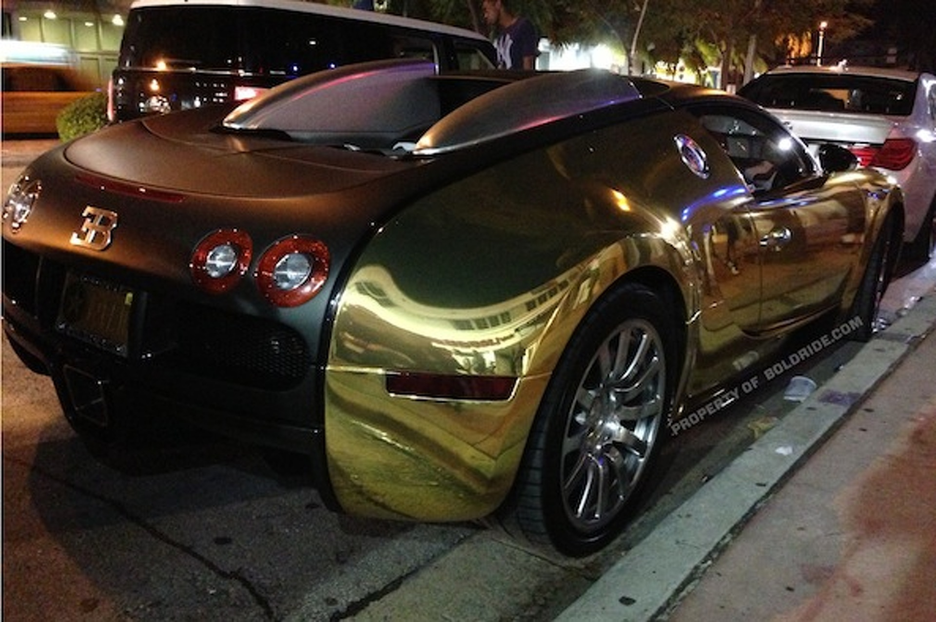 Flo Rida's Bugatti Caught Chillin' At Miami Heat Party