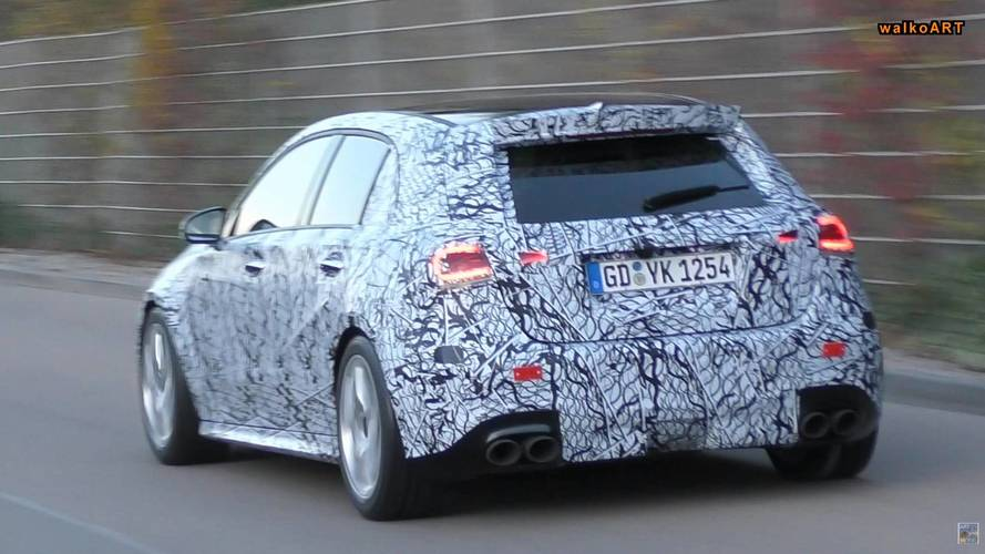New Mercedes-AMG A45 caught in action with quad exhaust pipes