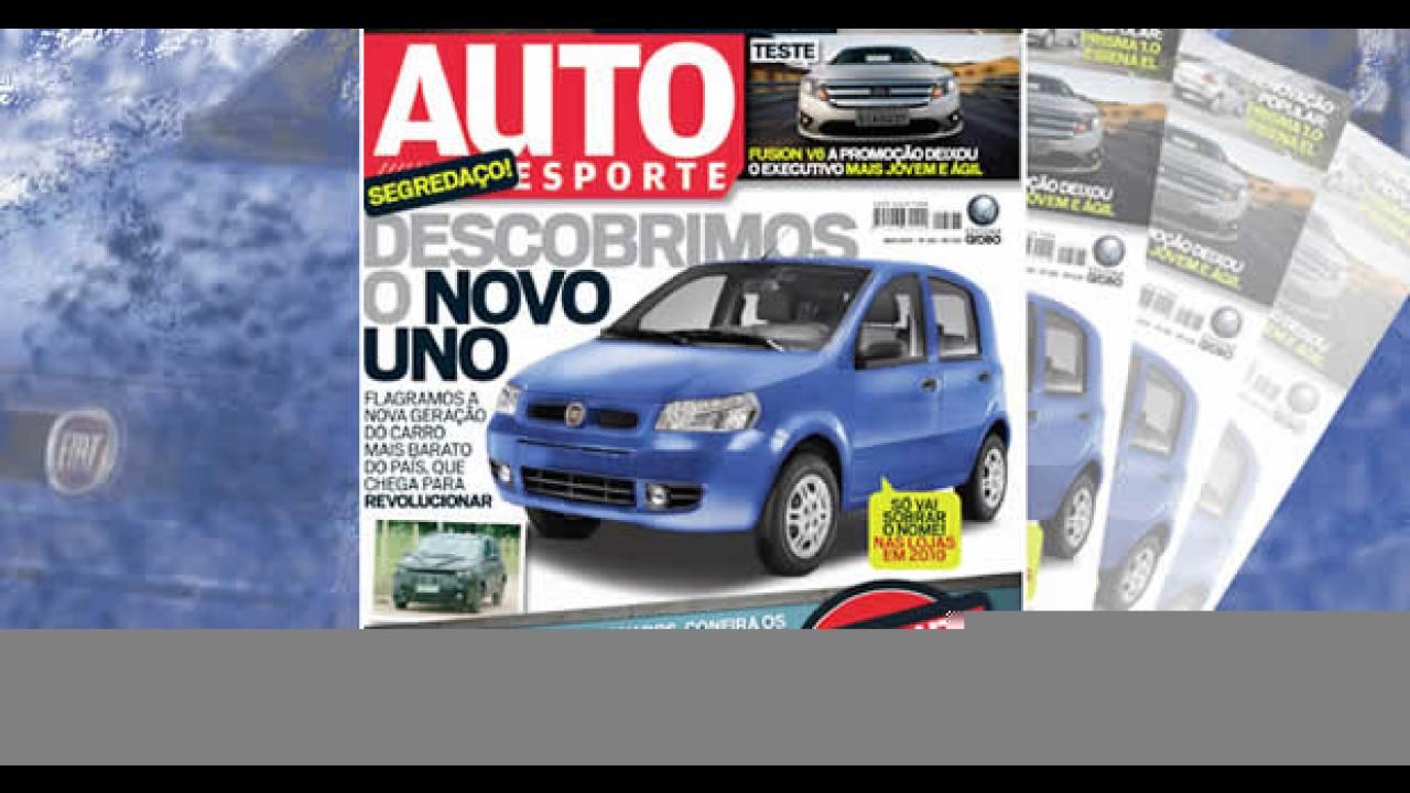 Edição de maio da Revista AutoEsporte traz flagra exclusivo do Novo UNO!