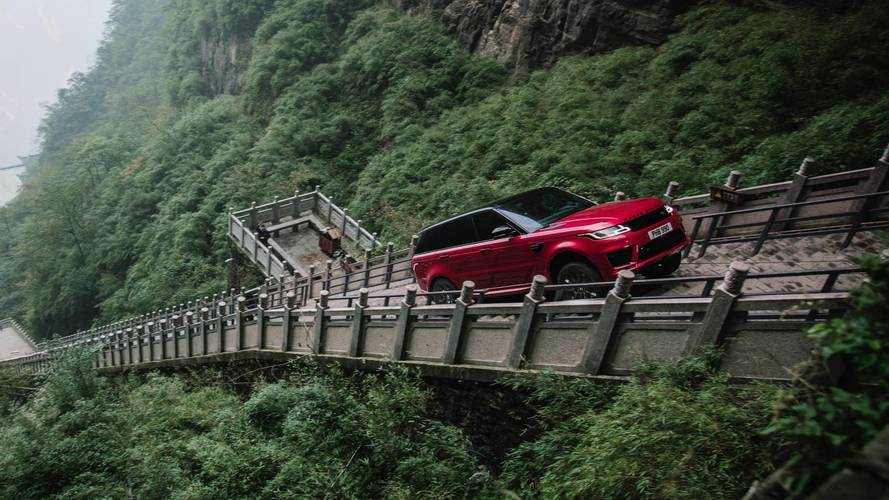 Range Rover Sport PHEV climbs China's Heaven Gate