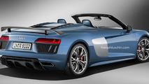Audi R8 V10 Plus Spyder render
