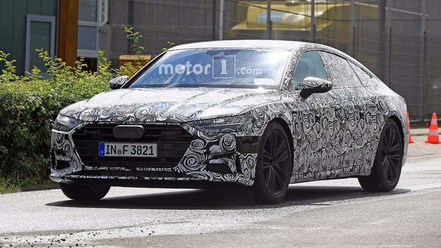 2018 Audi A7 Spied Unsuccessfully Hiding Production Taillights