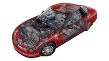 GM EV1 cutaway sketch by David Kimble