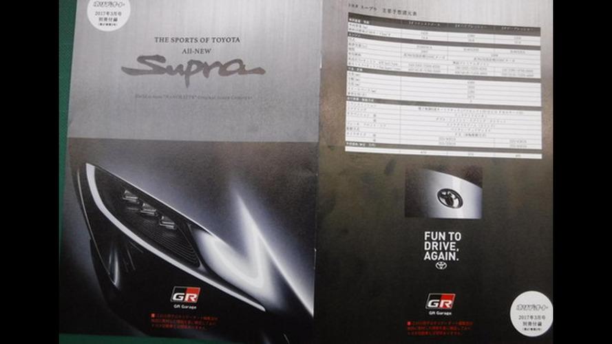 Vazou! - Toyota Supra 2018 revela (parte de) seus segredos em folheto