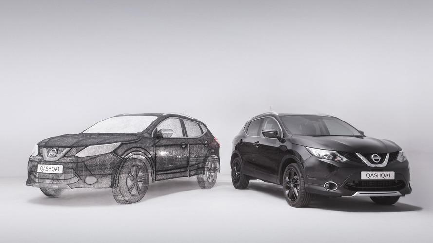 Nissan Qashqai'nin 3D kalemle heykeli yapıldı